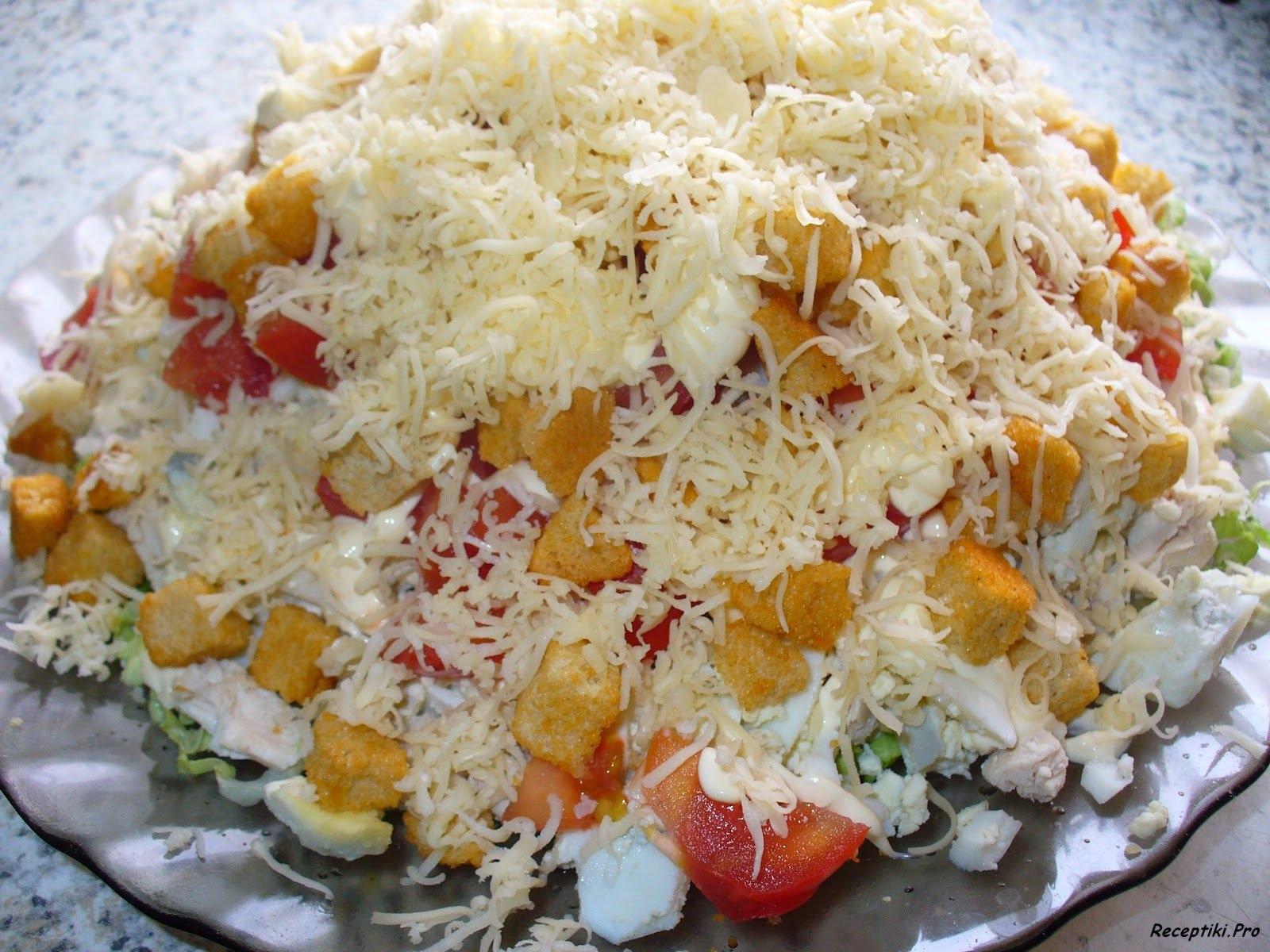 Салат с грудкой рецепты с